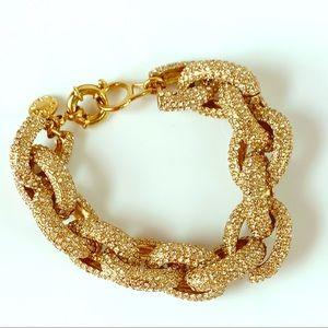 J. Crew Pave Set Chain Link Bracelet